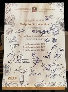 Industry leaders pledge to help the UAE save 3 million meals by 2020